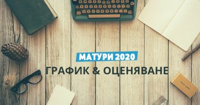 Матури 2020 - График и оценяване