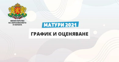 Матури 2021 - график и оценяване