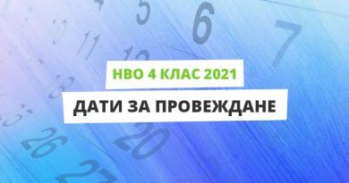 НВО 4 клас 2021 - дати за провеждане